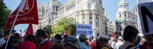 Las marchas por las pensiones públicas confluyen en Madrid