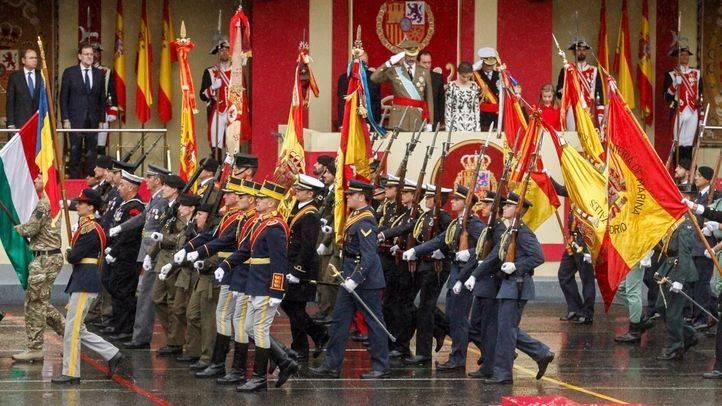 Desfile de la Fuerzas Armadas en el Día de la Hispanidad en 2016.