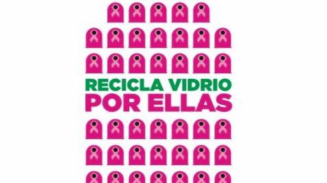 Ecovidrio se une a la lucha contra el cáncer de mama con sus contenedores rosas