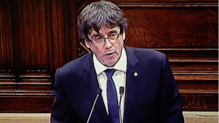Puigdemont suspende la declaración de independencia para dialogar