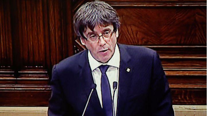 Declaración del president de la Generalitat, Carles Puigdemont, tras el referendum ilegal del 1O.