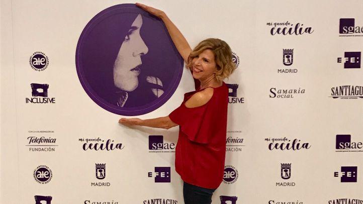 Soledad Giménez en la presentación de  'Mi querida Cecilia. Homenaje a la mejor cantautora española'.