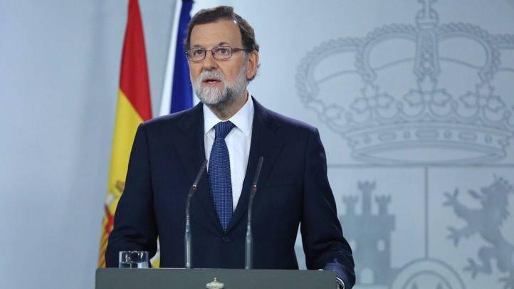 Mariano Rajoy, durante su intervención para responder al presidente catalán