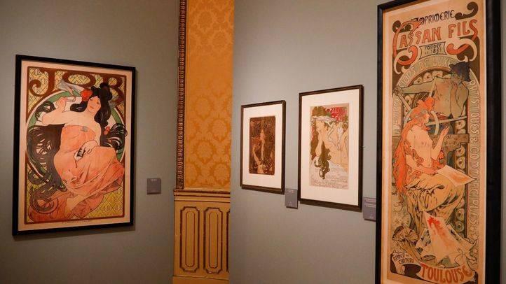 Algunas de las obras de Alphonse Mucha que pueden verse en la exposición en el Palacio de Gaviria