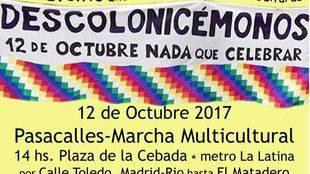 El colectivo del 15M organiza el pasacalles 'Nada que celebrar', entre La Latina y Matadero