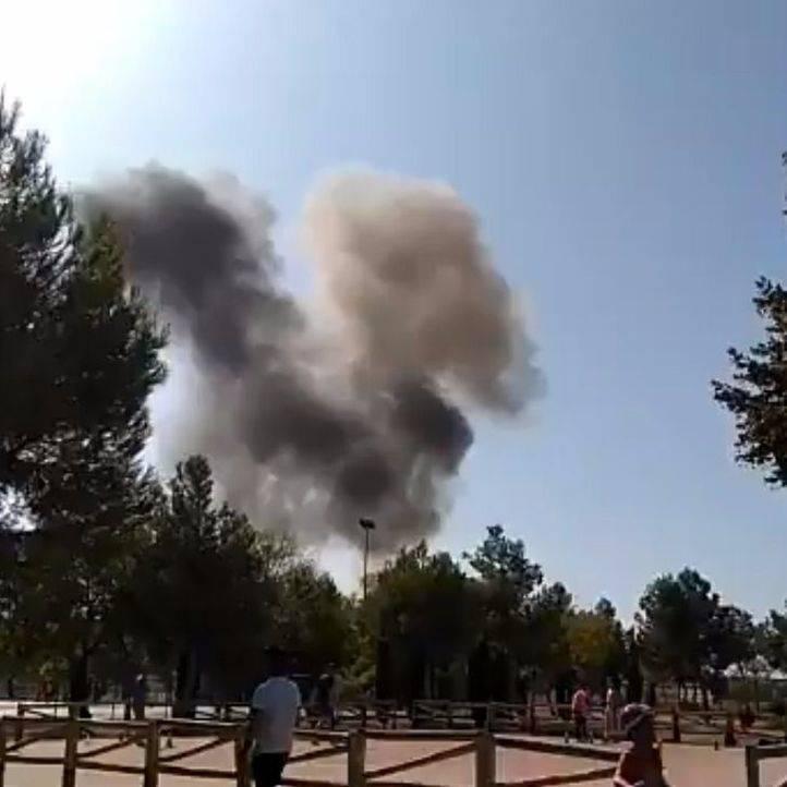 Muere el piloto del avión militar que se ha estrellado en Albacete