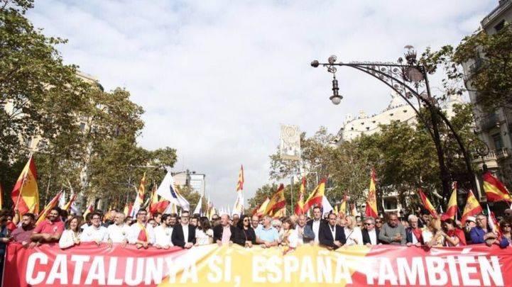 Manifestación del 12 de octubre en Barcelona