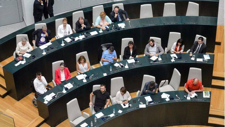 Bancada de Ahora Madrid en el Pleno del Ayuntamiento. (Archivo)