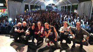 Grupo Camela en uno de los conciertos de su gira 2017