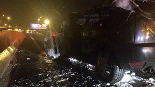 Cuatro heridos en una colisión en la carretera A-42