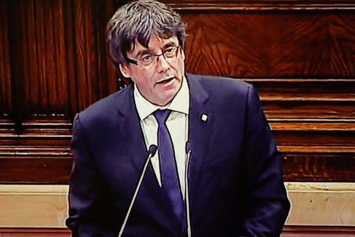 Puigdemont no dice si declaró la independencia
