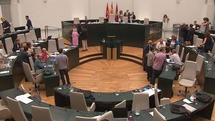 Vista general del Pleno del Ayuntamiento de Madrid.