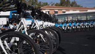 Foto de archivo de bicicletas eléctricas del servicio de BiciMad.