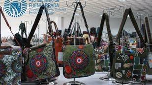 Bolsos falsificados por la policía de Fuenlabrada en Cobo Calleja
