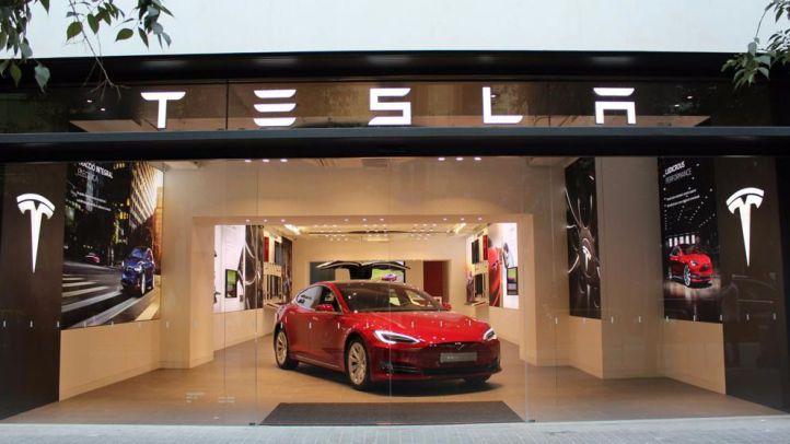 Tienda de Tesla en Barcelona.