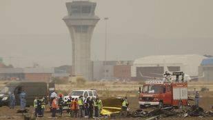 Se estrella un avión en la base de Torrejón y fallece el piloto