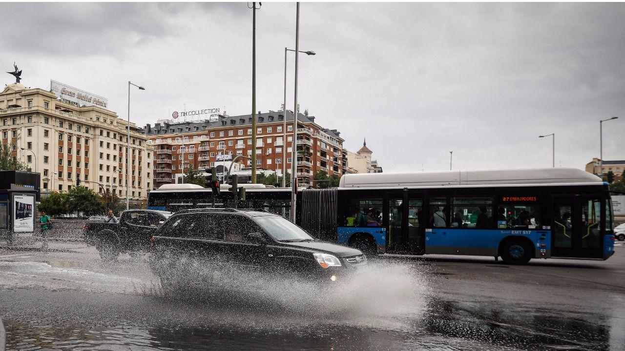 Madrid se atasca con las primeras lluvias de octubre | Madridiario