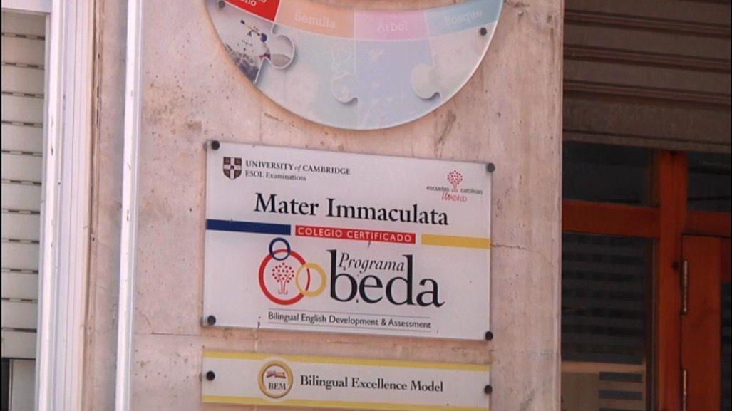 El Colegio Mater Immaculata es uno de los participantes en el Programa BEDA.