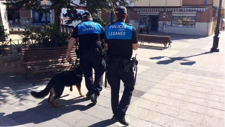 Dos agentes de la Policía Municipal de Leganés