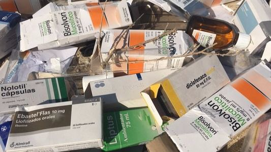 Vertido de medicamentos encontrado en Perales del Río.