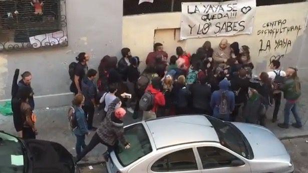 Encontronazo en La Yaya: primer enfrentamiento entre seguridad y okupas