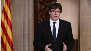 Puigdemont acude a la manifestación y hará declaraciones sobre el 155