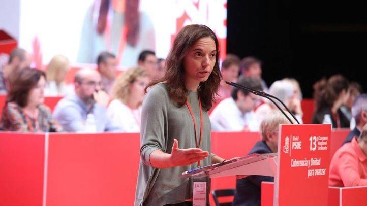 Sara Hernández durante el 13º Congreso Regional del PSOE-M