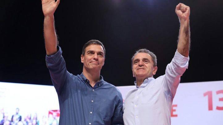 José Manuel Franco y Pedro Sánchez