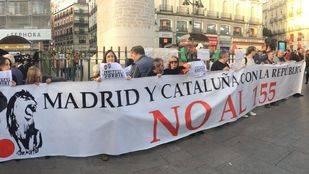 Concentración en Sol a favor de la libertad de los 'Jordis'