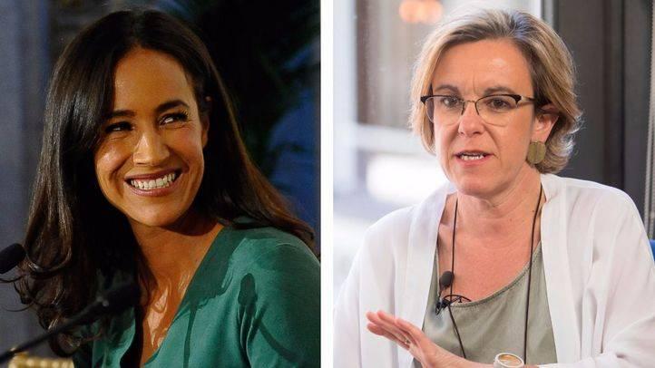 Purificación Causapié (PSOE) y Begoña Villacís (C's), portavoces de sus respectivos partidos en el Ayuntamiento de Madrid.