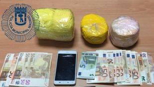 Heroína confiscada por la Policía Municipal.