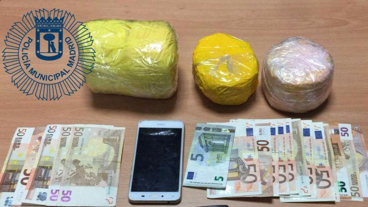 Incautados dos kilos de heroína en Ciudad Lineal