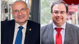 Luis Martínez Hervás, alcalde de Parla, y Santiago Llorente, alcalde de Leganés