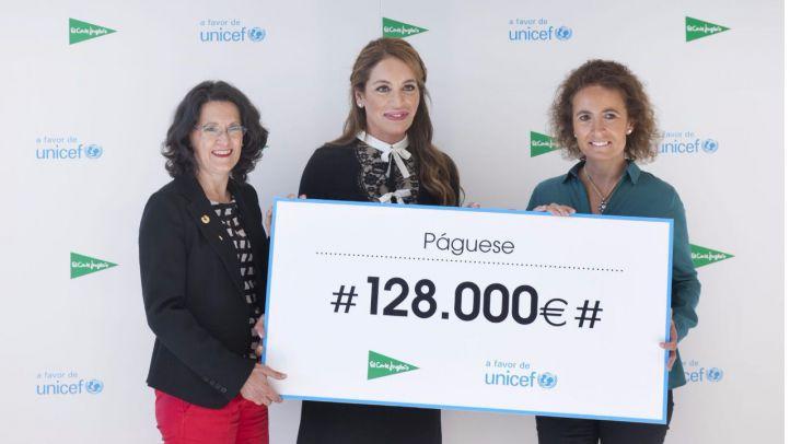 El Corte Inglés entrega 128.000€ a UNICEF para ayudar a la infancia más vulnerable