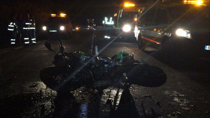 Muere un motorista tras una colisión frontal en Becerril de la Sierra