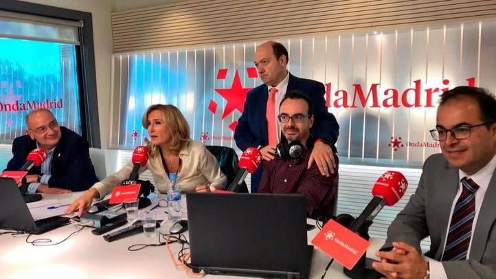 Los alcaldes de Parla y Leganés, Luis Martínez Hervás y Santiago Llorente, en Onda Madrid.