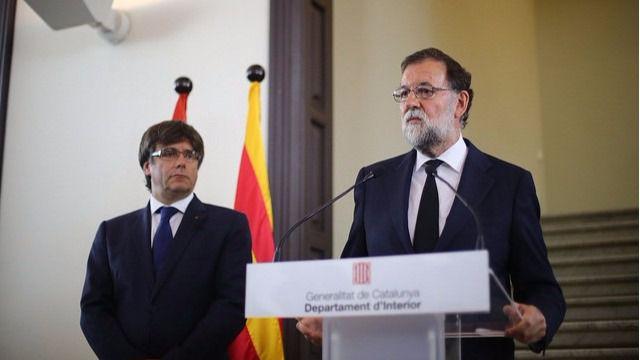 Rajoy comparece con Puigdemont