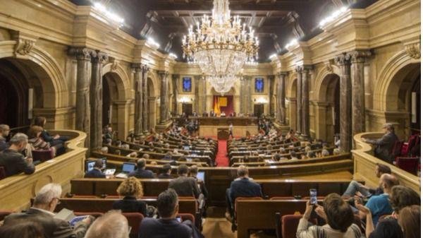 Hemiciclo del Parlament de Cataluña, este jueves