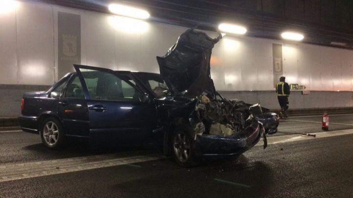 Vehículo implicado en el accidente de tráfico en la M-50