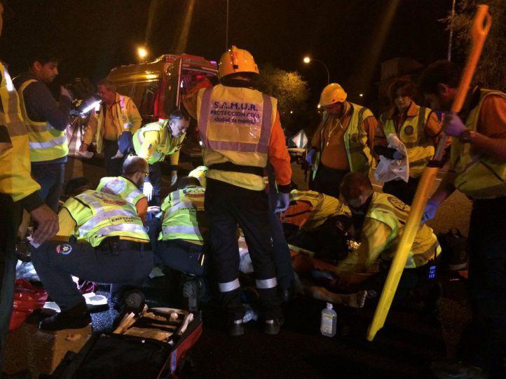 Herido grave tras ser atropellado en la A-6