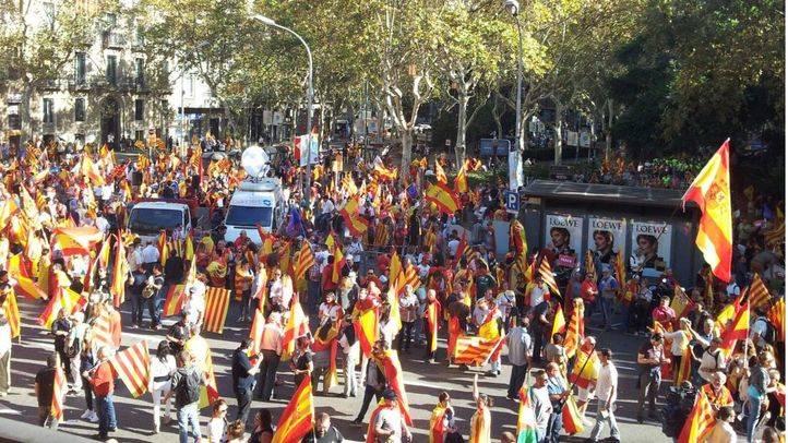 Manifestación pasada contra la independencia de Cataluña