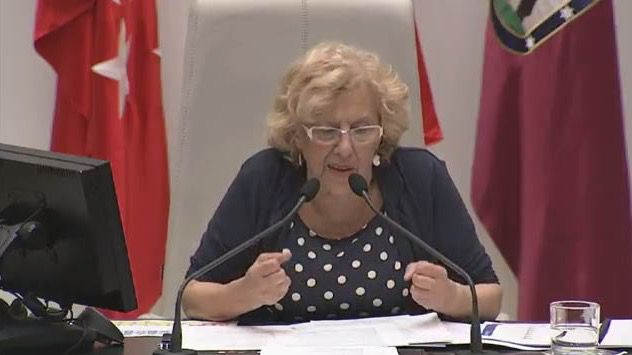 Manuela Carmena interviene en el Pleno del Estado de la Ciudad