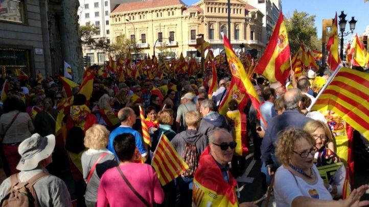 Barcelona se manifiesta por la unidad de España