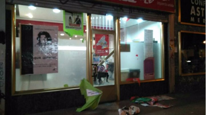 IU denuncia un ataque al Centro Social 13 Rosas