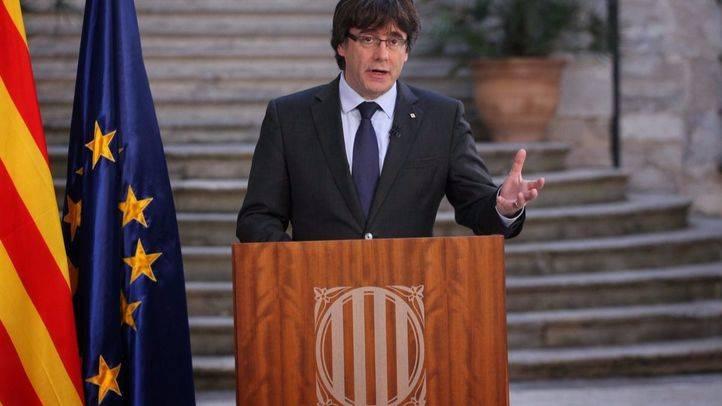 Carles Puigdemont, en su comparecencia grabada de este domingo