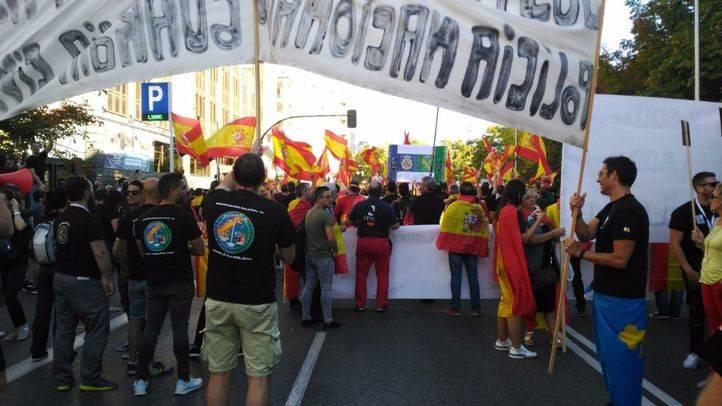 Manifestación de la Policía Nacional y de la Guardia Civil.