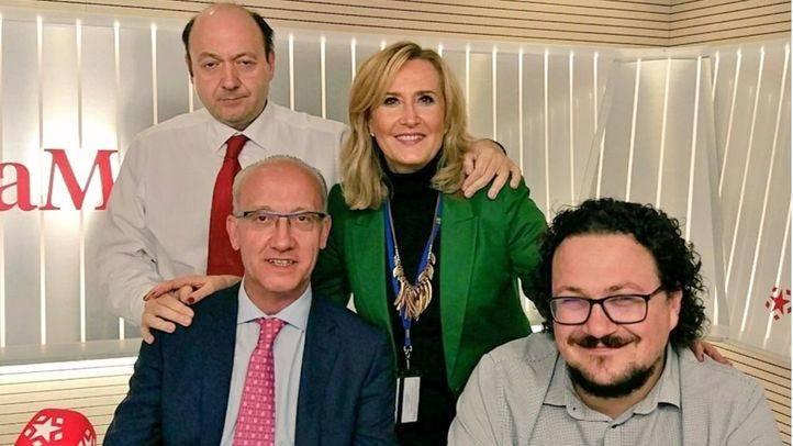 José Manuel Berzal (PP) y Jacinto Morano (Podemos) junto a Constantino Mediavilla y Nieves Herrero