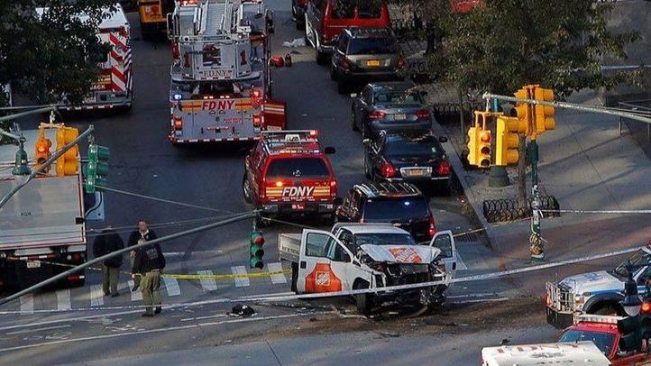 Ocho muertos en un atentado terrorista en Manhattan