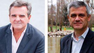 Narciso de Foxá, alcalde de Majadahonda, y David Lucas, alcalde de Móstoles.