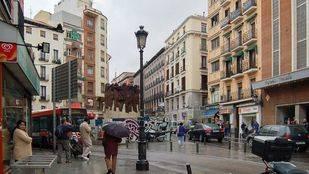Actual Plaza de Antón Martín, dónde se situaba parte del Hospital del Amor de San Juan de Dios.